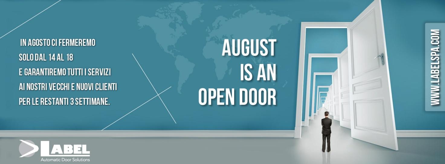 Inviateci i vostri ordini, riceverete regolarmente i nostri prodotti anche in agosto.