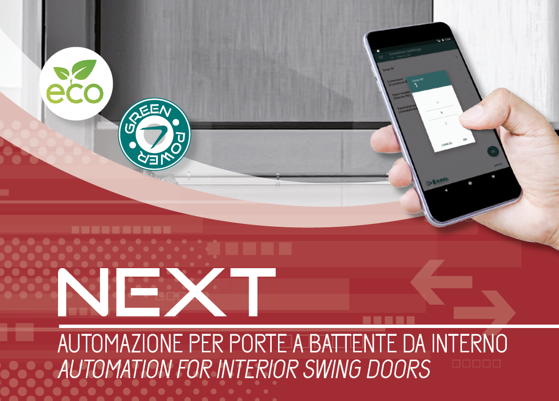 Next75-automatic swing door app Label